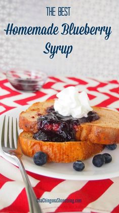 This Homemade Blueberry Syrup Recipe is my new favorite way to use frozen blueberries. In my son's words - it's to die for! Stock up while blueberries are in season and enjoy this amazing treat in minutes all year long!