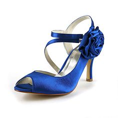 Gorgeous Satin Stiletto Heel Peep Toe With Flower Wedding Shoes (More Colors) - USD $ 34.99