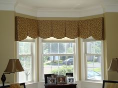 Image result for bay window ideas for curtains
