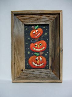 Primitive and Rustic Framed Barn Wood Stacked by barbsheartstrokes,