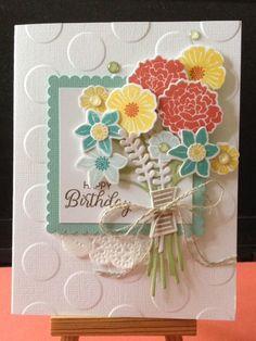 Stampin' Up! Beautiful Bouquet card - Scrapbook.com