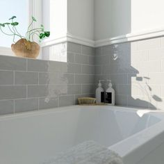 Laura Ashley Artisan french grey gloss wall tile x Decorating Ideas For Small White Bathroom Grey Wall Tiles, Grey Walls, Duck Egg Blue Bathroom Tiles, Duck Egg Blue Tiles, Accent Walls, White Tiles, Bad Inspiration, Bathroom Inspiration, Bathroom Renos