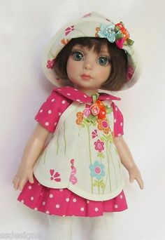 "OOAK Patsy's Bright Blossoms for 10"" Ann Estelle etc Made by Ssdesigns"