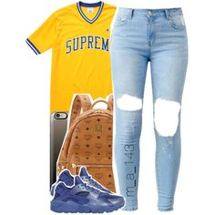7-19-15 | by mindlesslyamazing-143 on Polyvore featuring polyvore fashion style Champion NIKE MCM Casetify