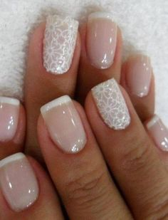 Nude nails play on French manicure
