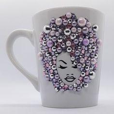 Personalized Bling Mugs | Etsy Tall Coffee Mugs, Coffee Love, Bling Heels, Mugs For Men, Pink Bling, Mugs Set, Mild Soap, Custom Mugs, Head Wraps