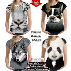Panda Printed Women T Shirt Fashion Female Clothes Tops Ladies Short Sleeve T-Shirt   #Female #Clothes #Tops #Ladies #printedtshirts #Short #Sleeve #TShirt  #innerwear.com.au #womentshirt