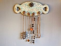 Jewelry Necklace Organizer-Wall Repurposed Heart by PippinPost