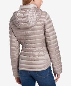 Gray Heather Belted Quilted Puffer Coat Products