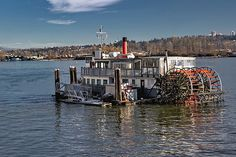 Vancouver - Canada Photograph - Cruises Paddle Wheeler Riverboat by Alex Lyubar #AlexLyubarFineArtPhotograph#VancouverCanadar#NewWestminster#FraserRiver#CruisesRiverboat#PaddleWheeler#ArtForHome#FineArtPrint