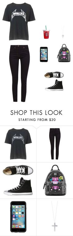 """""""Fade to Black."""" by rorschachsjournal ❤ liked on Polyvore featuring Topshop, Great Plains, Converse, MCM, OtterBox and Eddie Borgo"""