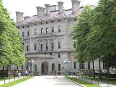 """""""The Breakers"""" - Front of the Vanderbilt Mansion"""
