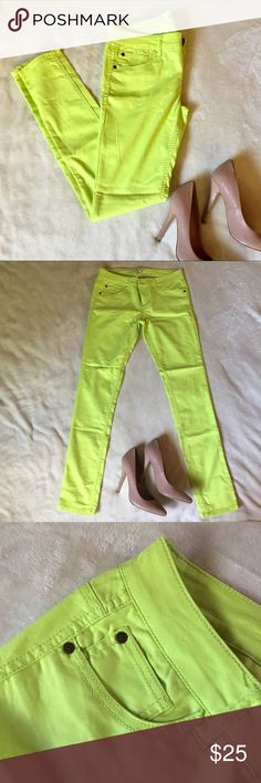 Skinny Leg pants BRAND NEW in a statement color Make an statement with this bright colored pair of skinny pants. BRAND NEW without TAGS. Reasonable offers considered but no lowballing please. Bundle 2+ items for additional savings and to pay just one shipping charge. No TRADES please Pants