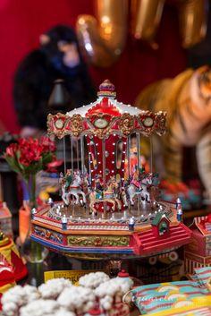 Detalhes para festa de aniversário com o tema circo