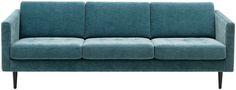 BoConcept: osaka sofa, turquoise Napoli fabric 2253/espresso oak venee