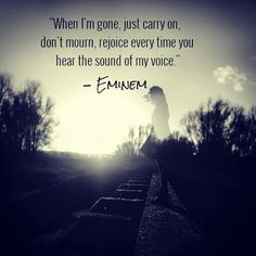 "Eminem lyrics - ""When I'm Gone"""