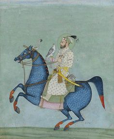 AN EQUESTRIAN PORTRAIT OF EMPEROR SHAH JAHAN MUGHAL INDIA, EARLY 19TH CENTURY