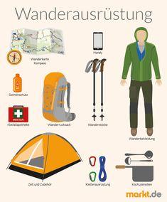 Die optimale Wanderausrüstung   markt.de #wandern #ausrüstung #zelten #outdoor #sport #infografik