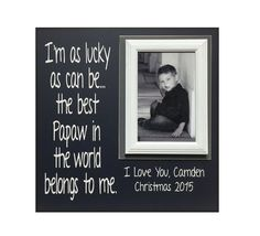 Papaw Gift from Grandchild Picture Frame For by MemoryScapes