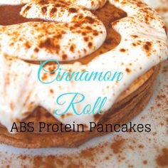 Make Cinnamon Rolls part of your daily #nutrition plan with our ABS Cinnamon Roll #Protein Pancakes that are All Natural w/ 25g+ #Protein and only 3g Sugar! Check out all our flavors at http://ss1.us/a/4T7DT9FC