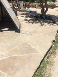 "Oklahoma flagstone ""chestnut""  This is what we chose for coping, decking, and stair treads."