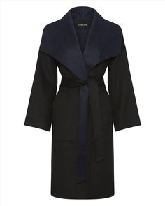 Double-Faced Wool Wrap Coat