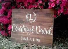 SALE!!!! Custom Monogram and Name Sign // Wood Wedding Decor