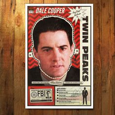 A Twin Peaks Poster, you can be Special Agent, Dale Cooper with this paper mask cut-out or print. Inspired by the Eraserhead mask & poster. Frame as a poster and hang it on your wall, or cut out the m