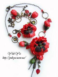 Poppy by Yuli-Ya, via Flickr Polymer Clay