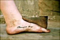 """How beautiful are the feet of those who bring the good news..."" I love…"