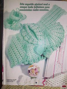 As Receitas de Crochê: Casaco e sapatinho de bebê