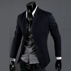 Designer Collar One Button Slim Blazer Jacket