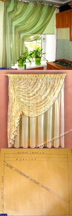 Easy way to drape those lace curtains in the living room Drapery Styles, Curtain Styles, Curtain Designs, Curtains And Draperies, Home Curtains, Kitchen Curtains, Valances, Country Curtains, Window Coverings