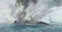 sinking repulse prince of wales | BBC - Your Paintings - Torpedo Planes Sink 'Repulse' and 'Prince of ...