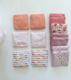 Montessori - Coussins tactiles - Coussins à associer - couture - éveil - bébé - jeu