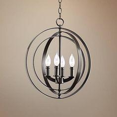 "Equinox Collection Bronze 16"" Wide Pendant Light - #R7952 | Lamps Plus"