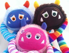 Custom Plush stuffed monster toy. CREATE your by MonsterOrphanage, £45.00