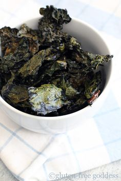 Easy Crispy Kale Chips- perfect for a gluten-free diet-These are GREAT! Don't let the looks fool you