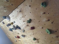 Build your own climbing wall in the attic - fun for the whole family and better value than another mechanical exercise gadget that getts you nowhere and makes you want to scowl at it after the first three weeks of use