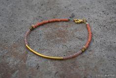DIY Seed bead bracelet.