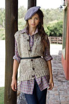 Manos del Uruguay - Winter 2012 collection - Camboatá Vest - Wool