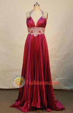Arabian Nights?! Beautiful Empire Halter Top Brush Prom Dresses Ruffle Beading Style FA-Z-00144