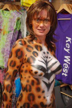 Nude body paint women in key west those on!