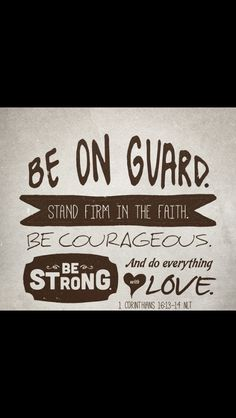 Be on guard