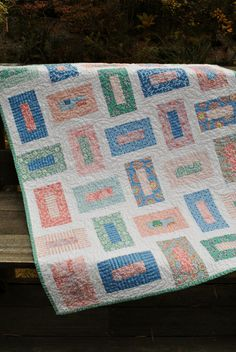 Baby Quilt or Toddler Quilt, Moda's Cape Ann ...pattern also for sale. $99.00, via Etsy.