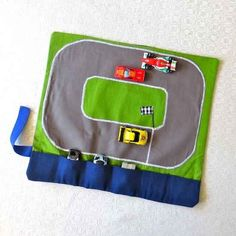 "Make a car caddy so your kids can go ""vroom-vroom"" at the table."