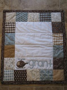 Custom Baby Quilt- Personalized with Baby's Name