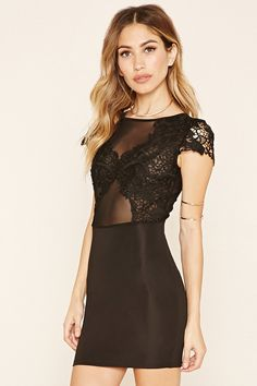 Lace Panel Sheath Dress | Forever 21 - 2000236679