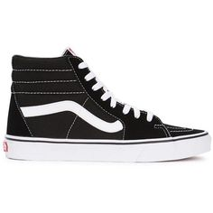 Womens Hi-Top Trainers Vans Sk8-Hi Slim Black Suede Hi-top Trainers (1.152.000 IDR) ❤ liked on Polyvore