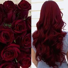 Hair Color And Cut, Cool Hair Color, Wine Red Hair Color, Pelo Color Vino, Wine Hair, Dark Red Hair, Curly Red Hair, Brown Hair, Teal Hair